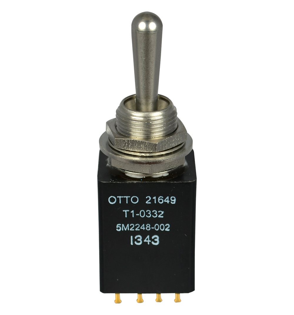 Te Commercial And Military Non Teasible Toggle Switch Supplier Otto Single Pole T1 Sealed